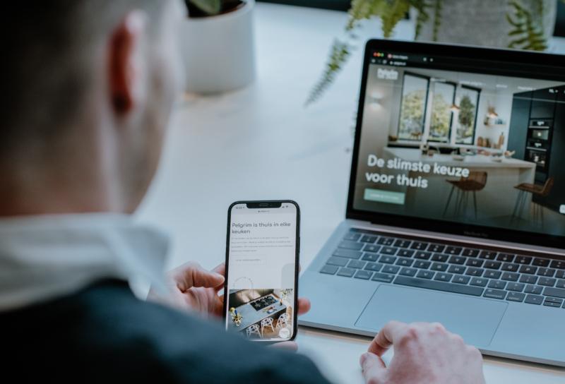Website met productcatalogus Pelgrim
