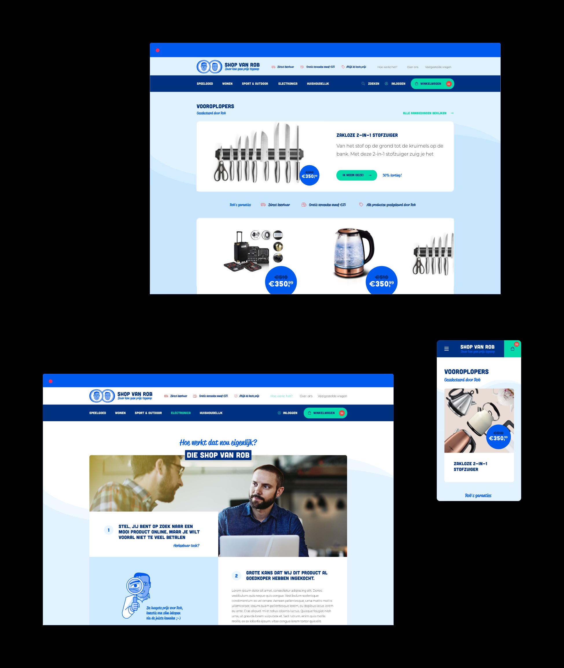 Maatwerk Webshop Shop van Rob