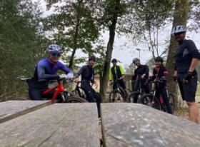 Mountainbiken met Fervent team